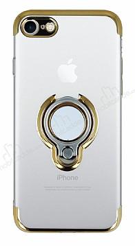 Eiroo Ring Laser iPhone 7 / 8 Selfie Yüzüklü Gold Silikon Kılıf