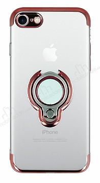 Eiroo Ring Laser iPhone 7 / 8 Selfie Yüzüklü Kırmızı Silikon Kılıf