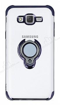 Eiroo Ring Laser Samsung Galaxy J7 / Galaxy J7 Core Selfie Yüzüklü Siyah Silikon Kılıf