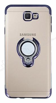 Eiroo Ring Laser Samsung Galaxy J7 Prime Selfie Yüzüklü Siyah Silikon Kılıf