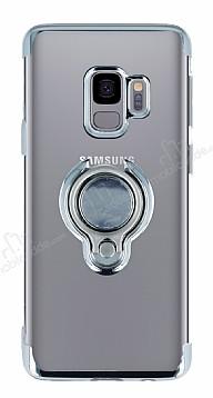 Eiroo Ring Laser Samsung Galaxy S9 Selfie Yüzüklü Silver Silikon Kılıf