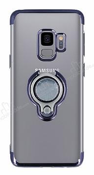 Eiroo Ring Laser Samsung Galaxy S9 Selfie Yüzüklü Siyah Silikon Kılıf