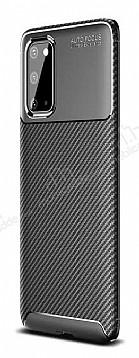 Eiroo Rugged Carbon Samsung Galaxy S20 Siyah Silikon Kılıf