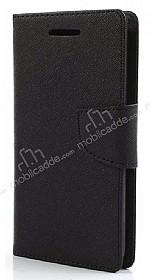 Eiroo Samsung Galaxy A3 2017 Standlı Cüzdanlı Siyah Deri Kılıf