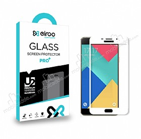 Eiroo Samsung Galaxy A5 2016 Curve Tempered Glass Beyaz Full Cam Ekran Koruyucu