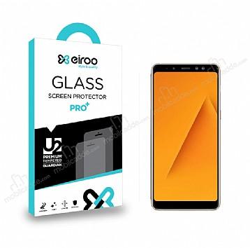 Eiroo Samsung Galaxy A8 Plus 2018 Tempered Glass Cam Ekran Koruyucu