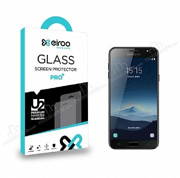 Eiroo Samsung Galaxy C8 Tempered Glass Cam Ekran Koruyucu
