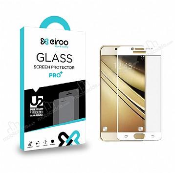 Eiroo Samsung Galaxy J5 Pro 2017 Curve Tempered Glass Full Beyaz Cam Ekran Koruyucu