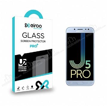 Eiroo Samsung Galaxy J5 Pro 2017 Tempered Glass Cam Ekran Koruyucu