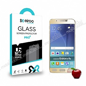 Eiroo Samsung Galaxy A8 Tempered Glass Ayna Gold Cam Ekran Koruyucu