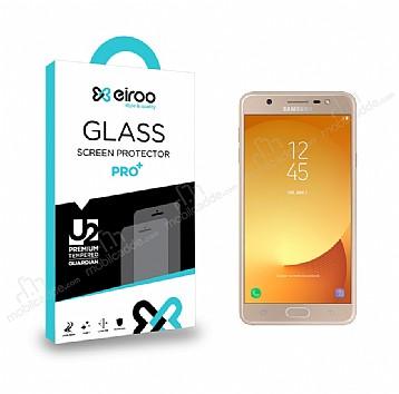 Eiroo Samsung Galaxy J7 Max Tempered Glass Cam Ekran Koruyucu