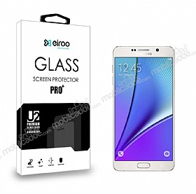 Eiroo Samsung Galaxy Note 5 Tempered Glass Cam Ekran Koruyucu