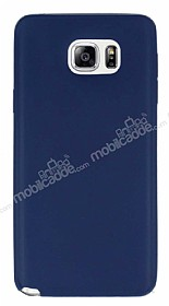 Samsung Galaxy Note 5 Ultra İnce Lacivert Silikon Kılıf