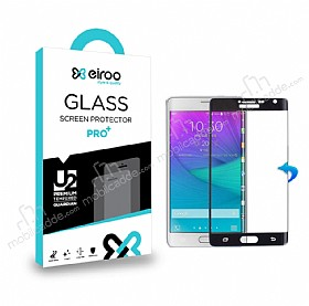 Eiroo Samsung Galaxy Note Edge Curve Tempered Glass Siyah Full Cam Ekran Koruyucu