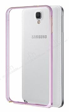 Eiroo Samsung N7505 Galaxy Note 3 Neo Gold Çizgili Round Metal Bumper Çerçeve Rose Gold Kılıf