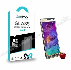 Eiroo Samsung N9100 Galaxy Note 4 Tempered Glass Ayna Gold Cam Ekran Koruyucu