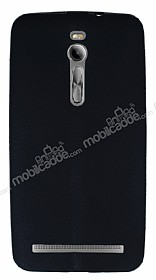 Asus ZenFone 2 Deri Desenli Ultra İnce Siyah Silikon Kılıf