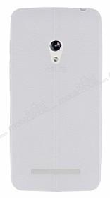 Asus ZenFone 5 Deri Desenli Ultra İnce Şeffaf Silikon Kılıf