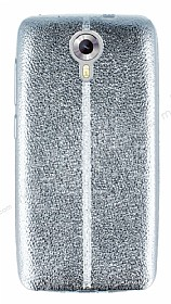 Eiroo Seams Fit General Mobile Android One / General Mobile GM 5 Ultra İnce Metalik Silver Silikon Kılıf
