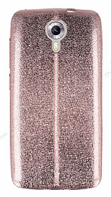 Eiroo Seams Fit General Mobile Android One / General Mobile GM 5 Ultra İnce Metalik Rose Gold Silikon Kılıf