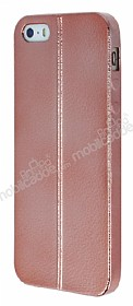 Eiroo Seams Fit iPhone SE / 5 / 5S Ultra �nce Metalik Rose Gold Silikon K�l�f