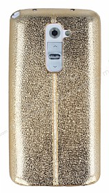 Eiroo Seams Fit LG G2 Ultra �nce Metalik Gold Silikon K�l�f