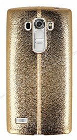Fit LG G4 Beat Ultra İnce Metalik Gold Silikon Kılıf