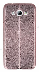 Eiroo Seams Fit Samsung Galaxy A8 Ultra �nce Metalik Rose Gold Silikon K�l�f