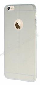 iPhone 6 Plus / 6S Plus Deri Desenli Ultra İnce Şeffaf Silikon Kılıf
