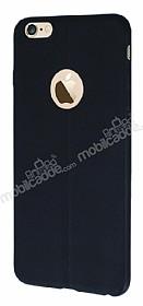 iPhone 6 Plus / 6S Plus Deri Desenli Ultra İnce Siyah Silikon Kılıf