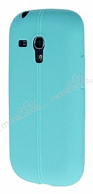 Samsung i8190 Galaxy S3 Mini Deri Desenli Ultra İnce Su Yeşili Silikon Kılıf