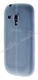 Samsung i8190 Galaxy S3 Mini Deri Desenli Ultra İnce Şeffaf Silikon Kılıf