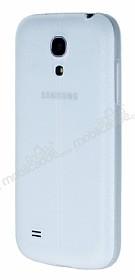 Samsung i9190 Galaxy S4 mini Deri Desenli Ultra İnce Şeffaf Silikon Kılıf