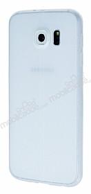 Samsung i9800 Galaxy S6 Deri Desenli Ultra İnce Şeffaf Silikon Kılıf
