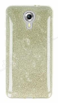 Eiroo Silvery General Mobile Android One Simli Gold Silikon Kılıf