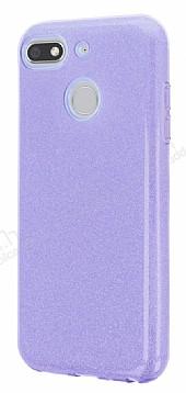Eiroo Silvery General Mobile GM 8 GO Simli Mor Silikon Kılıf