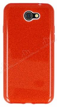 Eiroo Silvery General Mobile GM6 Simli Kırmızı Silikon Kılıf