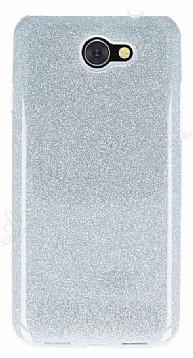 Eiroo Silvery General Mobile GM6 Simli Silver Silikon Kılıf