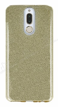 Eiroo Silvery Huawei Mate 10 Lite Simli Gold Silikon Kılıf