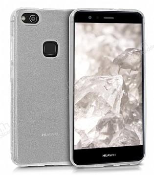 Eiroo Silvery Huawei P10 Lite Simli Silver Silikon Kılıf