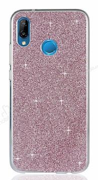 Eiroo Silvery Huawei P20 Lite Simli Pembe Silikon Kılıf