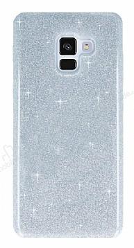Eiroo Silvery Samsung Galaxy A8 Plus 2018 Simli Silver Silikon Kılıf