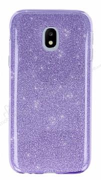 Eiroo Silvery Samsung Galaxy J3 2017 Simli Mor Silikon Kılıf