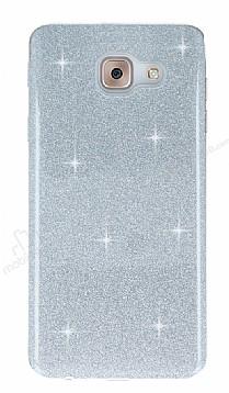 Eiroo Silvery Samsung Galaxy J7 Max Simli Silver Silikon Kılıf