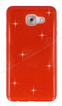 Eiroo Silvery Samsung Galaxy J7 Max Simli Kırmızı Silikon Kılıf