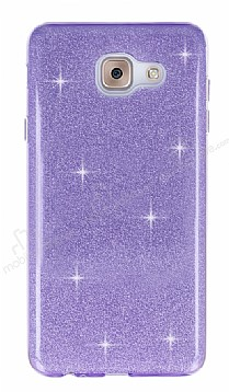 Eiroo Silvery Samsung Galaxy J7 Max Simli Mor Silikon Kılıf