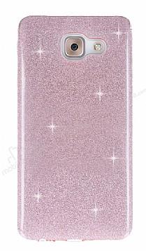Eiroo Silvery Samsung Galaxy J7 Max Simli Pembe Silikon Kılıf
