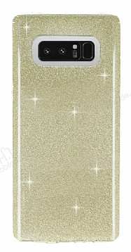 Eiroo Silvery Samsung Galaxy Note 8 Simli Gold Silikon Kılıf