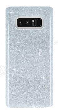 Eiroo Silvery Samsung Galaxy Note 8 Simli Silver Silikon Kılıf