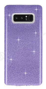 Eiroo Silvery Samsung Galaxy Note 8 Simli Mor Silikon Kılıf